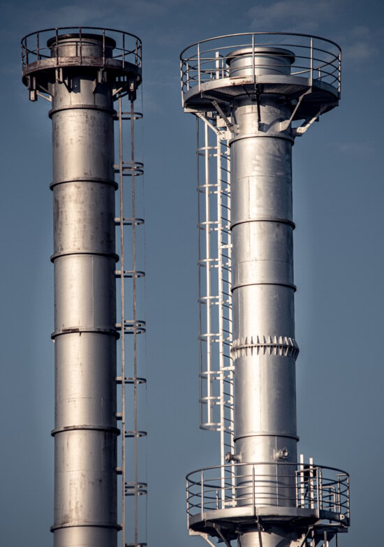 refinery, chemical, industrial, tower, facility, chimney, pollution, factory, industry, steel