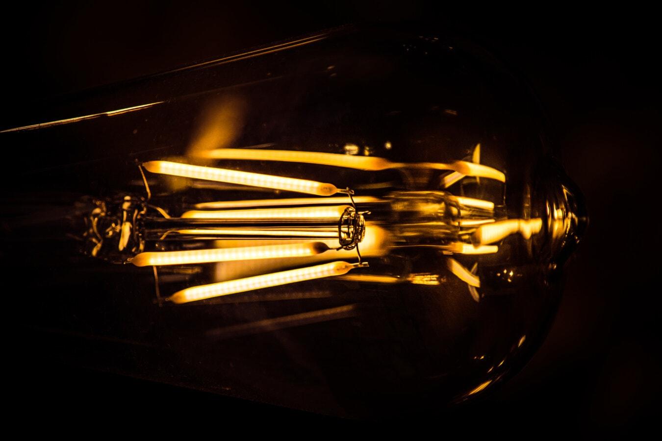 flary, Przewody, żarówki, żarówki, makro, światło, Lumen, ilustracja, luminescencji, ciemny