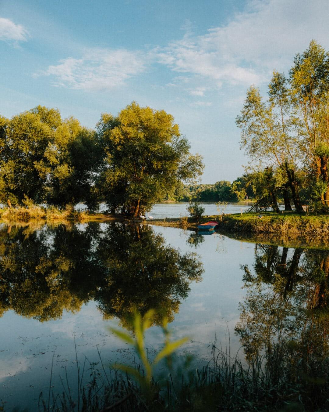 Natur, See, Reflexion, Struktur, Wasser, Landschaft, Fluss, Blatt, Park, im freien