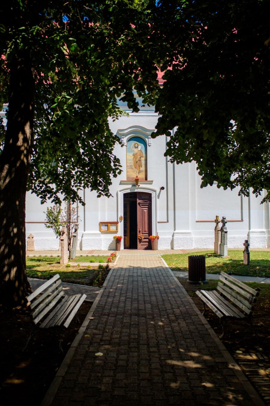 cimetière, tombe, Pierre tombale, jardin, église, architecture, arbre, parc, lumière, religion