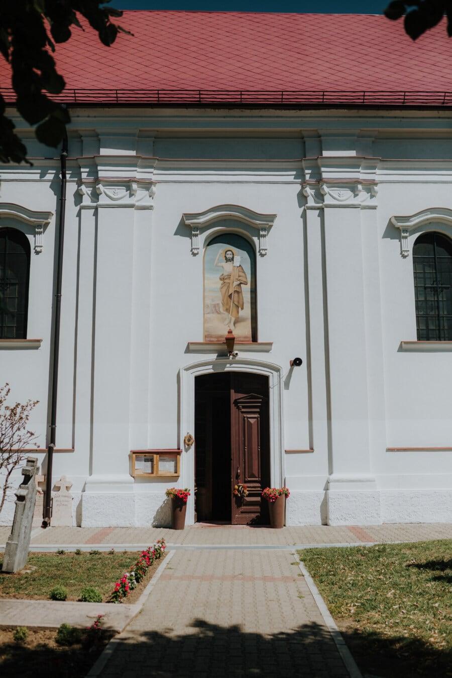 front door, gateway, orthodox, gravestone, church, grave, cemetery, wall, fine arts, saint