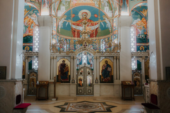 orthodox, church, Serbia, interior decoration, altar, floor, mosaic, cathedral, structure, architecture