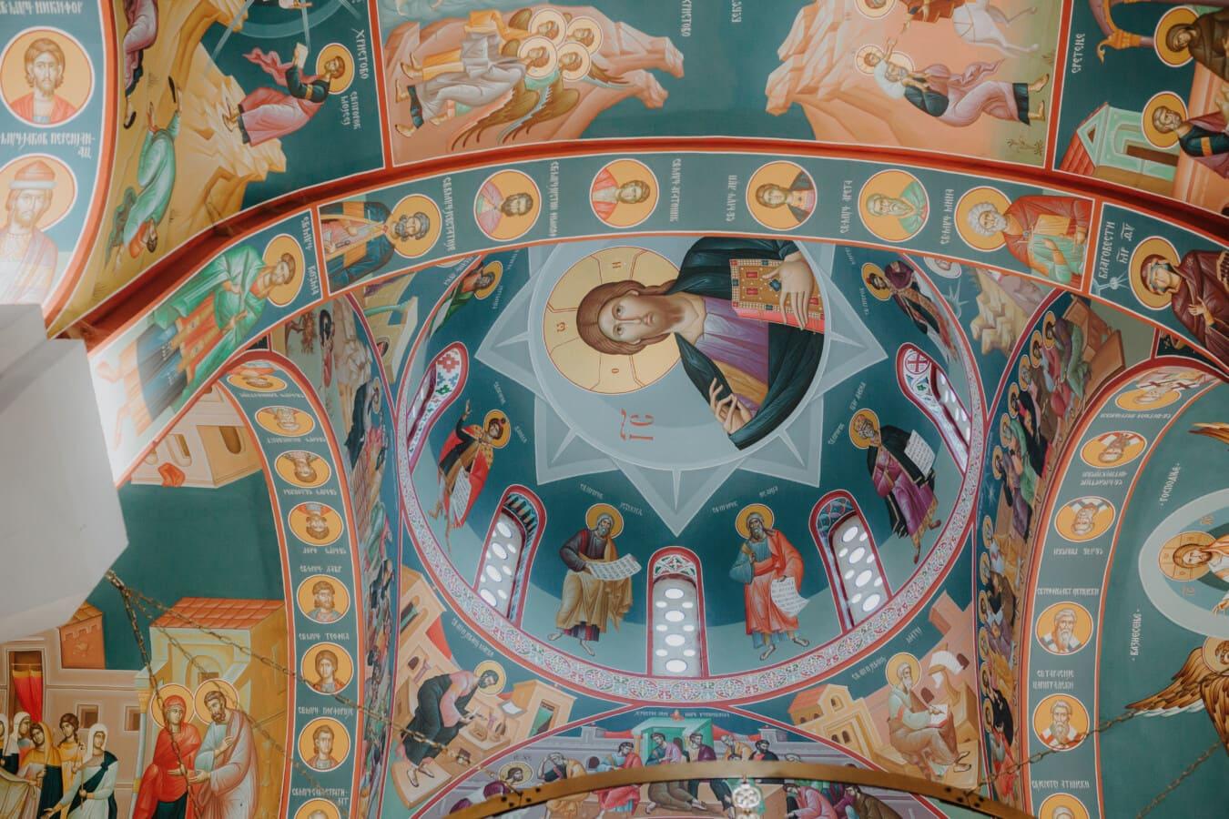Christentum, Decke, Christus, Wandbild, Heilige, geistigkeit, Malerei, Bildende Kunst, Kunst