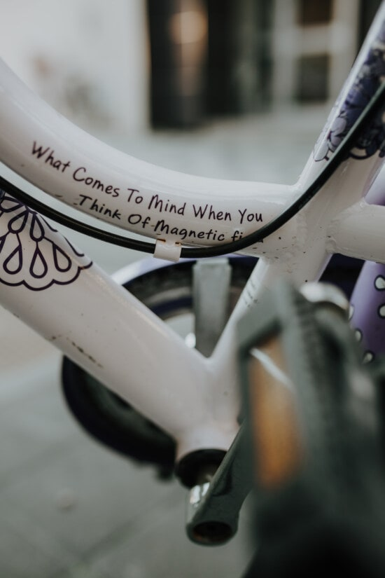 bicycle, white, message, text, gear, pipe, bike, detail, wheel, outdoors