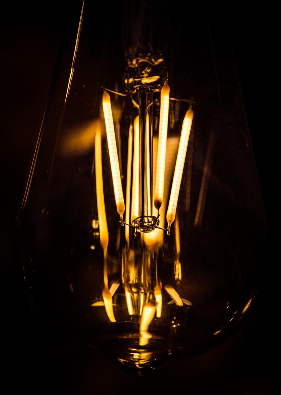filament, wire, close-up, light, light bulb, bright, bulb, dark, energy, electricity