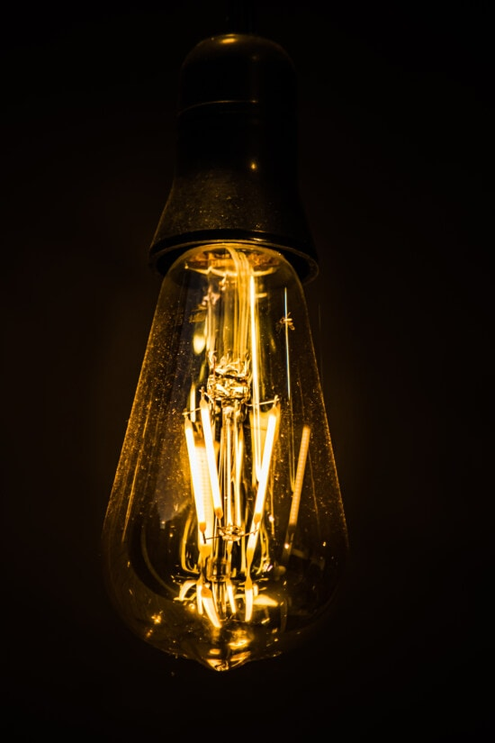 hanging, old style, light bulb, macro, wire, bulb, glass, electricity, light, illuminated