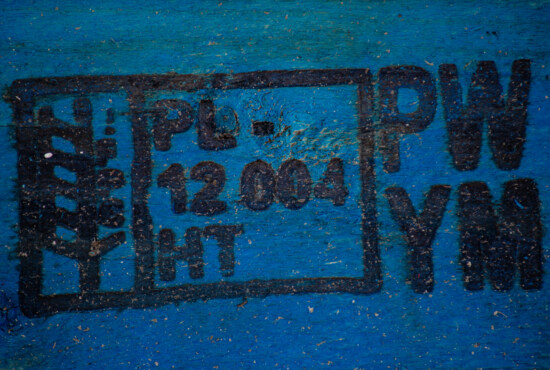 dark blue, plank, close-up, wooden, paint, sign, text, industrial, symbol, blue