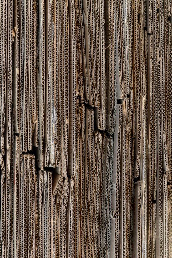 vertical, cardboard, paper, carton, stacks, industrial, recycling, textile, pattern, texture