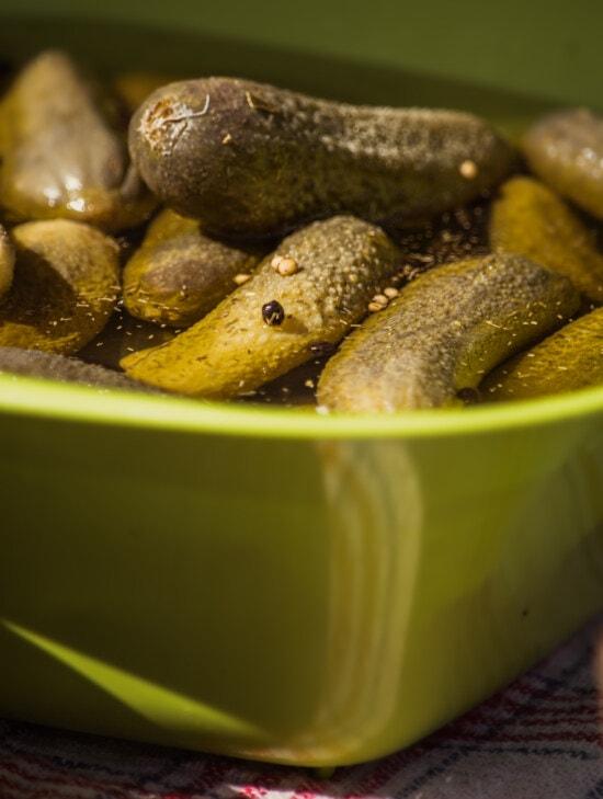 cucumber, salad, acid, handmade, greenish yellow, organic, food, nature, salt, wood