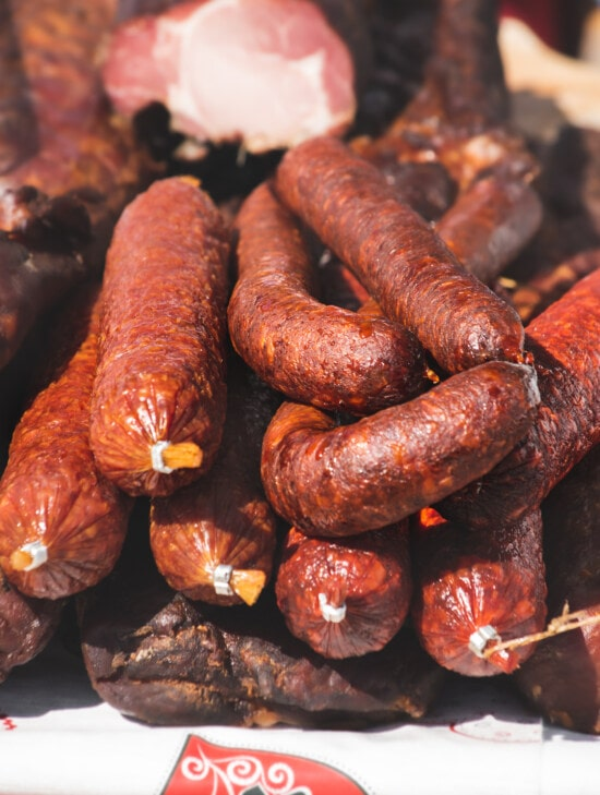 sausage, meat, dry, products, handmade, organic, pork loin, pork, food, beef