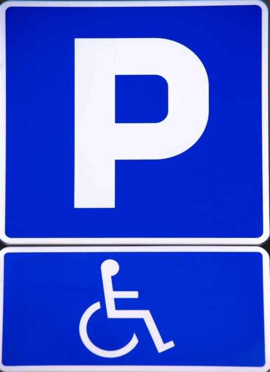 disabled, parking, wheelchair, parking lot, sign, information, warning, traffic control, icon, symbol