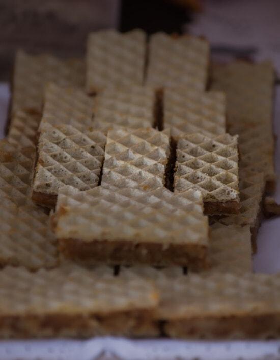 fatti in casa, biscotto, waffle, fette, pasticceria, cibo, dolce, biscotto, delizioso, legno