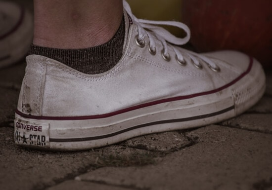 white, sneakers, classic, textile, rubber, fashion, pair, foot, footwear, retro