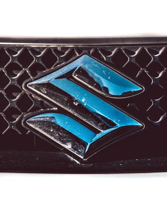 Suzuki, sign, chrome, metallic, metal, close-up, design, modern, style, color
