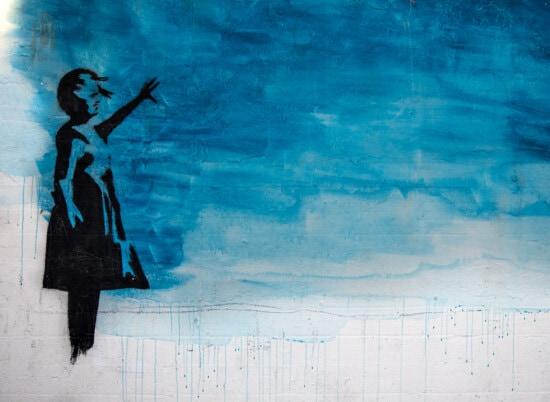 gratuit stil, cer albastru, graffiti, gratuit de viaţă, persoană, vizuale, silueta, artistice, murdare, retro