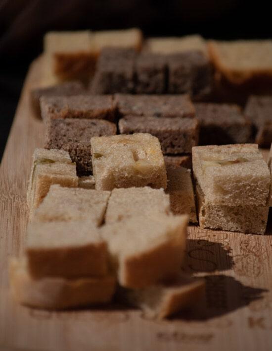 φέτες, μινιατούρα, ψωμί, από κοντά, ψωμί ολικής αλέσεως, τροφίμων, το ψήσιμο, σπιτικό, διατροφή, καφέ