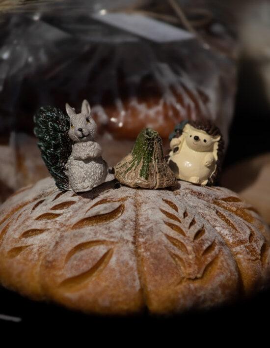домашнє, ручної роботи, хліб, органічні, їжа, натюрморт, традиційні, Великдень, Темний, святкування