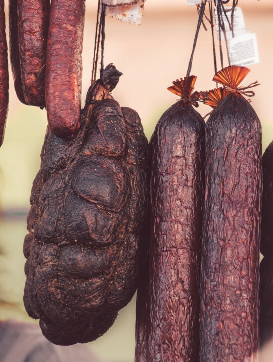 pork loin, food, sausage, ham, pork, homemade, beef, meat, salami, market