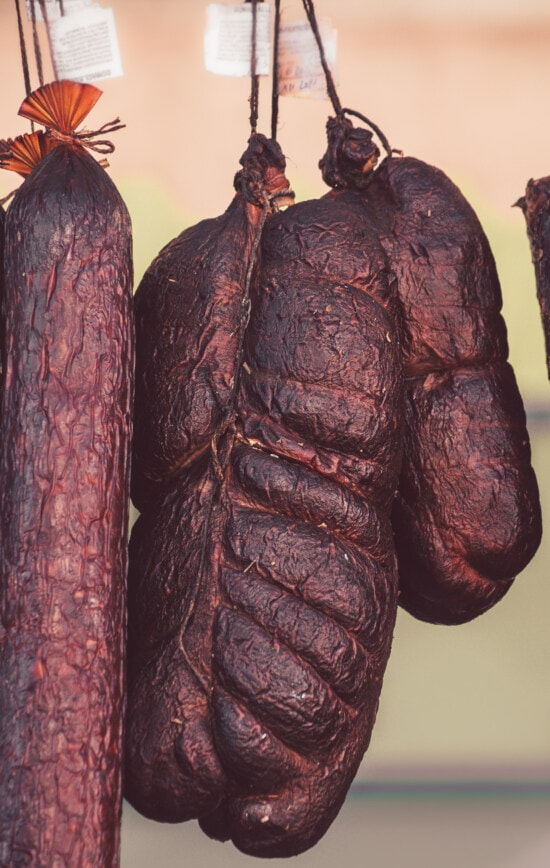 Wurst, Rindfleisch, hausgemachte, Fleisch, trocken, aus nächster Nähe, Cholesterin, Schweinefleisch, Essen, traditionelle