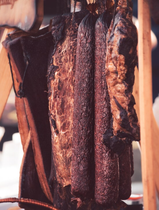 dry, meat, pork, ham, sausage, bacon, craft, craft fair, traditional, organic