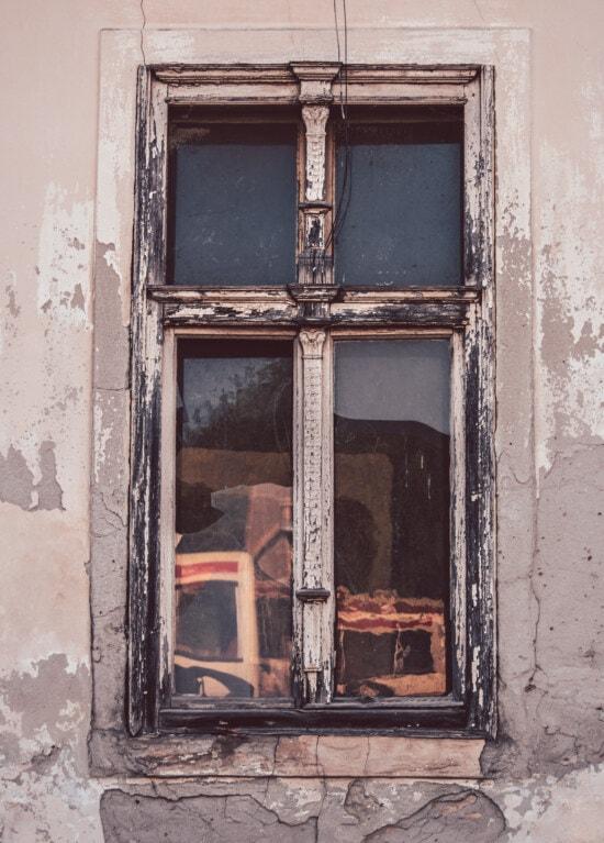 decay, windows, ruin, abandoned, derelict, sill, window, old, door, dirty