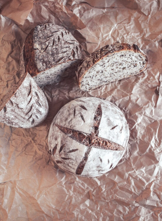 wholemeal flour, wholemeal bread, homemade, tradition, slices, lunch, delicious, baked goods, bread, crust