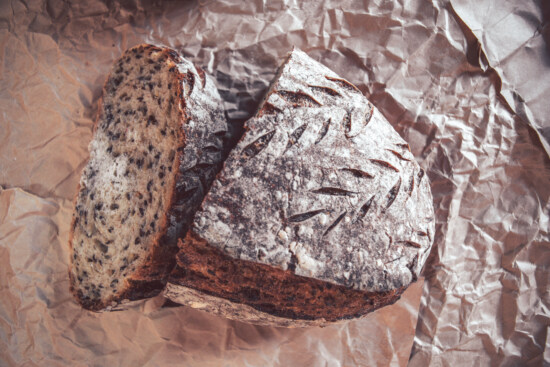 homemade, traditional, wholemeal bread, wholemeal flour, wholemeal, bread, kitchen table, food, delicious, paper