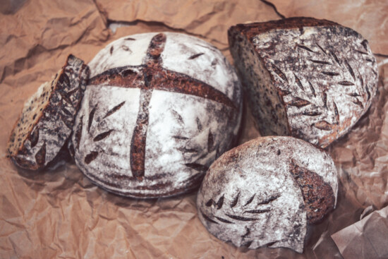 baked goods, bread, wholemeal bread, traditional, crust, roast, dark, food, old, delicious
