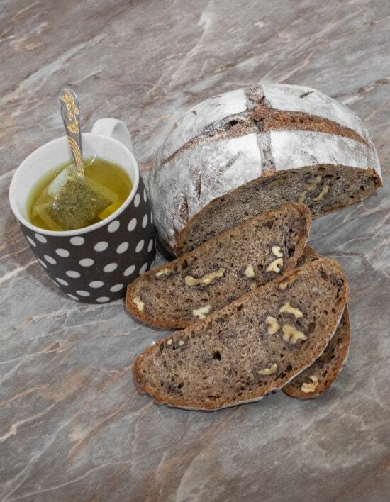 wholemeal bread, walnut, teaspoon, breakfast, tea, organic, handmade, bread, dietary, food