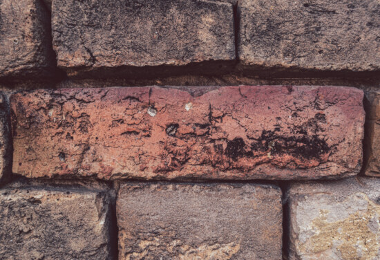 mortar, masonry, bricks, ordinary, cube, horizontal, brick, rough, texture, surface