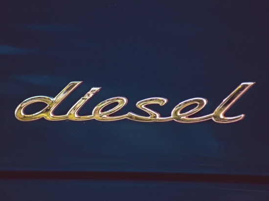 diesel, sign, chrome, metallic, stainless steel, glossy, text, symbol, shining, reflection