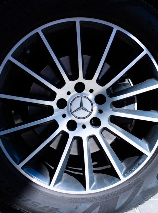 sign, Mercedes Benz, tire, rim, close-up, modern, glossy, shining, wheel, machine