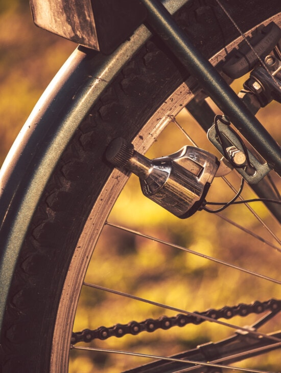 dynamo, close-up, bicycle, device, wheel, rim, steel, part, old, tire