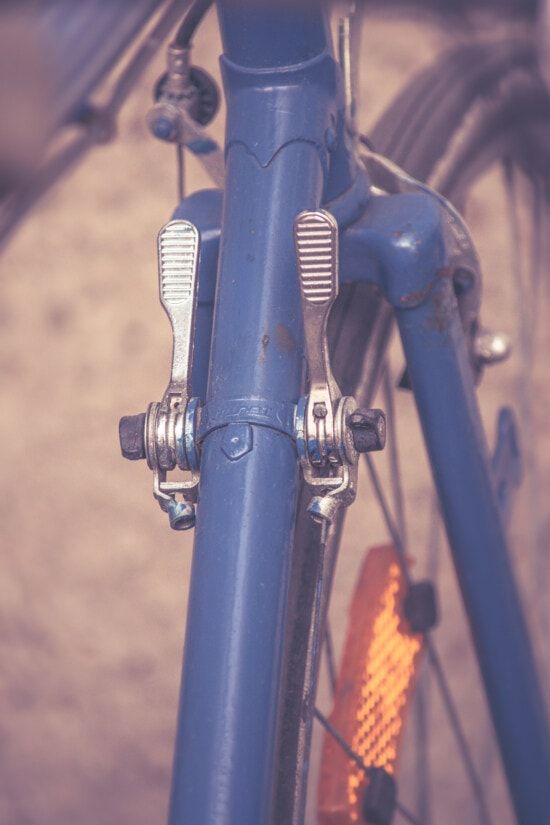 gearshift, close-up, bicycle, old style, vintage, detail, technology, steel, industry, vehicle