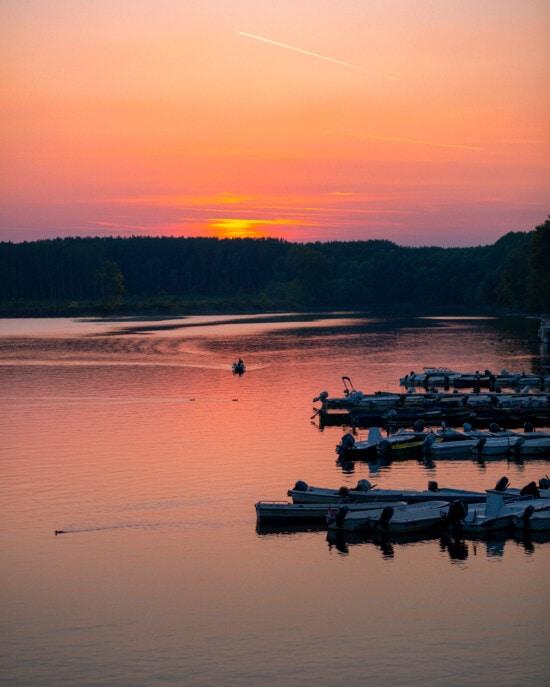 船, 港, 日出, 内河船, 黄昏, 岸, 水, 日落, 湖, 黎明