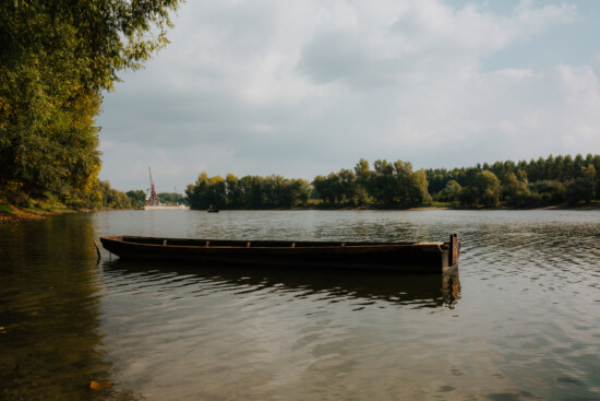 wooden, boat, floating, water level, river, channel, lakeside, water, reflection, vehicle