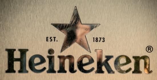 Heineken, сяючий, глянцевий, текст, знак, символ, друкарня, абетка, бізнес, вінтаж