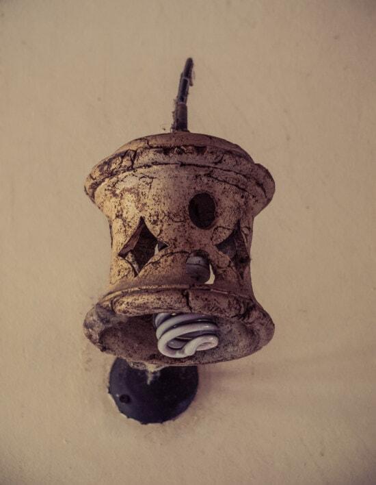 вінтаж, Плитка керамічна, лампа, брудні, старомодний, лампочки, світло-коричневий, мистецтво, ретро, старий