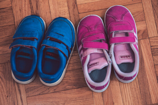 pink, dark blue, sneakers, footwear, comfortable, casual, Adidas, covering, fashion, leather