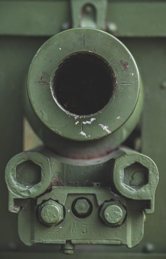 близьким, отвір, гармата, військові, армія, сталі, залізо, старий, ретро, іржі