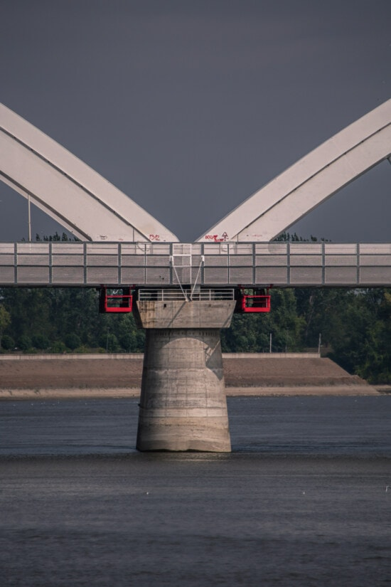 bridge, arches, architectural style, modern, construction, river, column, architecture, water, outdoors