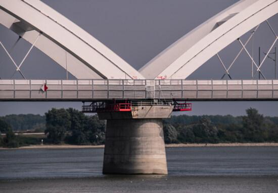 bridge, concrete, construction, arches, water, architecture, river, landmark, structure, day