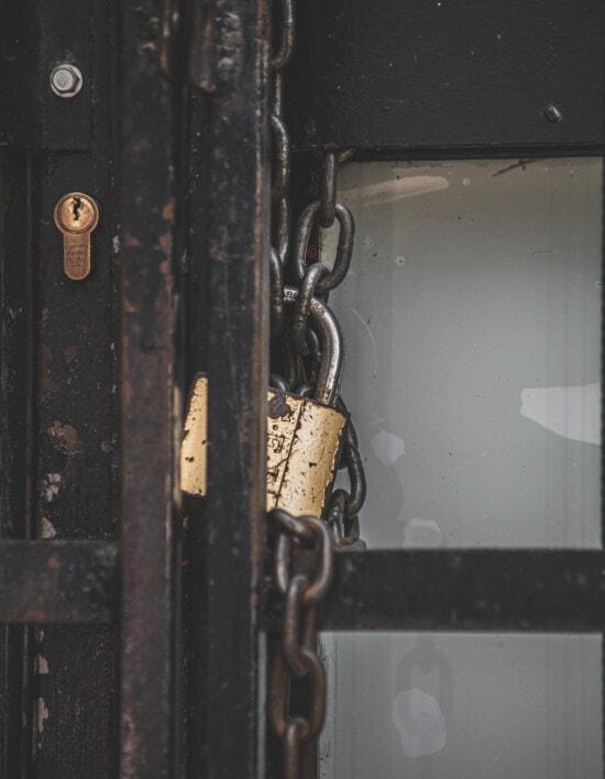 ojo de la cerradura, candado, hierro fundido, cadena, acero inoxidable, acero, hierro, seguridad, cierre, cerradura