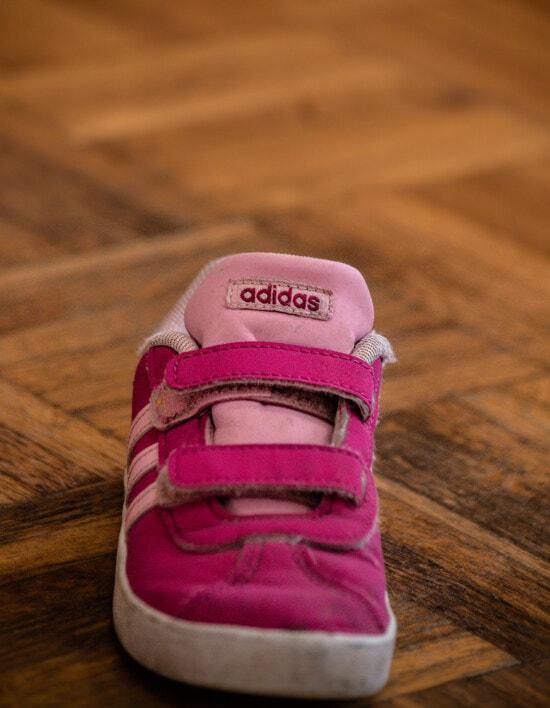 кросівки, малий, рожево, Adidas, взуття, мода, комфорт, традиційні, ноги, об'єкт