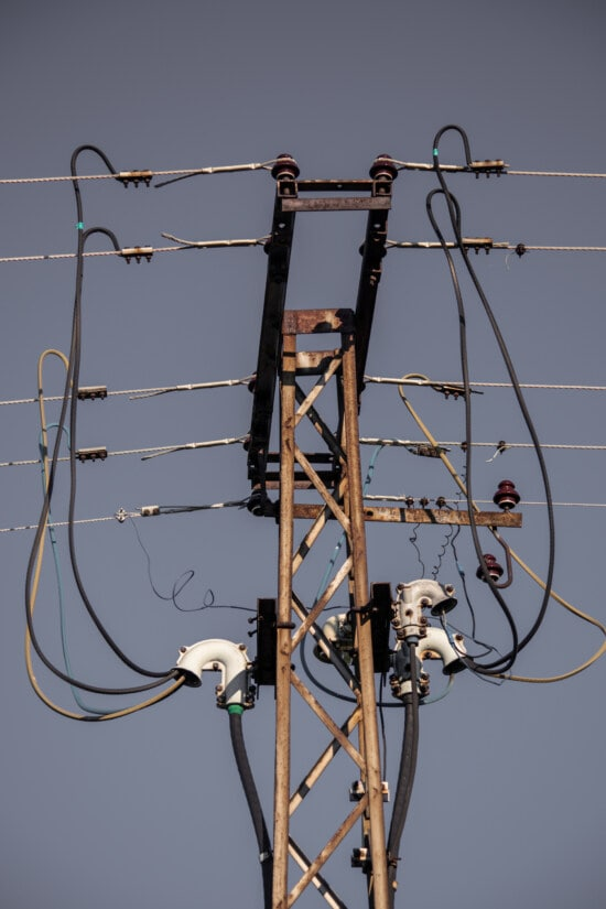 pylon, electricity, grid, transmission, high, voltage, distribution, cable, wire, energy