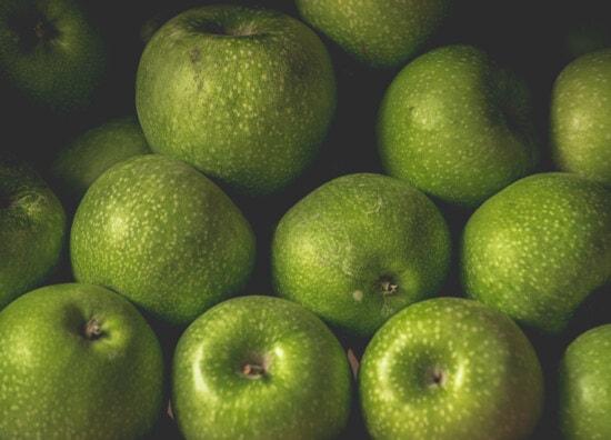 apples, greenish yellow, apple, fresh, organic, close-up, food, produce, health, vitamin