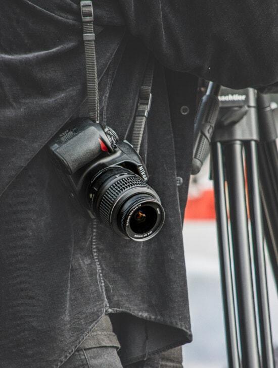 zoom, digital camera, photographer, equipment, tripod, photocopy, jeans, black, lens, technology