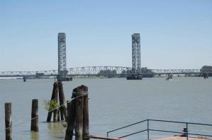 Bridge, перетинає, Сакраменто, річка, vista