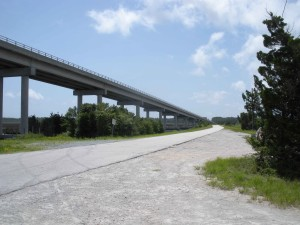 big, modern, bridge, construction