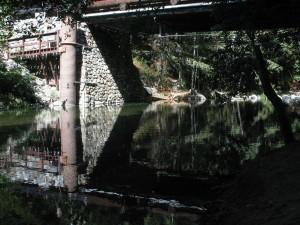 veľký, táborisko, voda, most